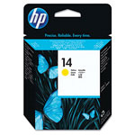 HP 14 Yellow Inkjet Cartridge, Model C4923A, 30000PGS Page Yield