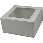 "BOXit Auto Window Bakery Box, 10"" x 10"" x 5"""