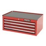 "Proto Intermediate Chest 4 Drawer Red 27"" x 10"