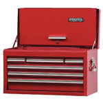 "Proto Red Drop Front Chest 27"" x 15"" 6 Drawer"