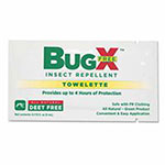 Pac-Kit BugX DEET Free Insect Repellent Towelette 100/Box
