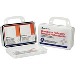 Pac-Kit Bloodborne Pathogen and CPR Kits, Weatherproof Plastic, 28 Pieces, Wall Mount
