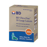 Becton Dickinson Ultra Fine Lancets, 30 Gauge, Box Of 100