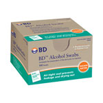 Becton Dickinson Alcohol Swabs, 100 Foil Wrap Wipes per Box