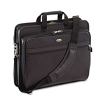 "Targus TLE400 Deluxe 17"" Leather Notebook Case Notebook Carrying Case, Black"