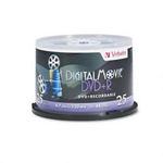 Verbatim DigitalMovie - 25 x DVD+R - 4.7 GB 4X - Spindle - Storage Media