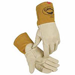 Caiman Kontour Welding Gloves, Cow Grain Leather, X-Large, Cream
