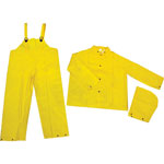 River City Classic 3-Piece Rainsuit, Pvc/Polyester, Yellow