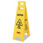 Rubbermaid Yellow Folding Floor Signs