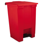Rubbermaid Red Plastic Step-On Fire-Safe Trash Can, 12 Gallon, Square