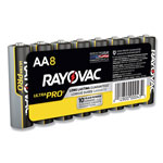 Rayovac Ultra Pro Alkaline Batteries, AA, 8/Pack