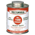 "Rectorseal No.100 1/2"" Point Btc Virginwhite Teflon Pipe"