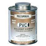 Rectorseal 1-pt. Gold 844 Heavy Body Cement for Pv