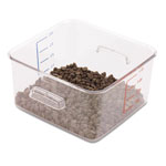 Rubbermaid SpaceSaver Square Containers, 4qt, 8 4/5w x 8 3/4d x 4 3/4h, Clear