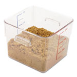 Rubbermaid SpaceSaver Square Containers, 6qt, 8 4/5w x 8 3/4d x 6 9/10h, Clear