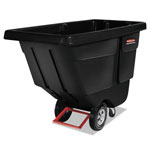 Rubbermaid Rotomolded Tilt Truck, Rectangular, Plastic, 450-lb Cap., Black