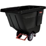Rubbermaid 850 Pound Black Plastic Tilt Cart