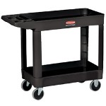 Rubbermaid 500 Lb Capacity Two Shelf Utility Cart Black