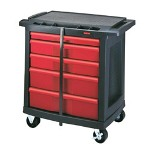Rubbermaid 5-drawer Black Actionpacker Work Center