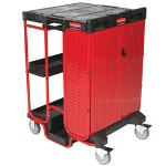 Rubbermaid Black 500 Lb Capacity Ladder Cart w/Cabinet