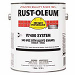 Rust-Oleum High Performance 7400 System DTM Alkyd Enamels, 1 Gal, Safety Yellow, High-Gloss