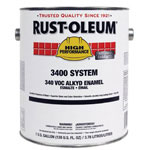 Rust-Oleum High Performance 3400 System Alkyd Enamel Paint, 1 gal, Safety Yellow