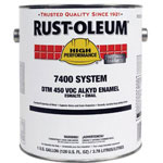 Rust-Oleum High Performance 7400 System DTM Alkyd Enamel Paint, 1 gal, Heavy-Duty Aluminum