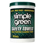 Simple Green Safety Cleaning Towel, White, Case of 6