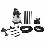 Shop Vac 6 Gallon Industrial Single-Stage Wet/Dry Vacuum w/ Accessories, 7 Foot Hose, 9 A