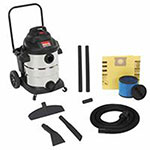 Shop Vac 10 Gallon Carted Contractor Wet/Dry Vacuum w/ Accessories, 12 Foot Hose, 12 A