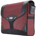Mobile Edge MEMS07 Select Messenger Bag - Notebook Carrying Case - Black, Dr.Pepper Red