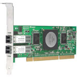 Qlogic QLA2462 - Network Adapter - PCI-X Low Profile - Fibre Channel - 2 Ports