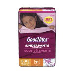 Goodnites® Large / Extra Large Girls, Mega Package