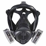 North Safety Products S-Series Survivair Opti-Fit APR Full Facepiece Respirators, Large, 5-Pt Strap