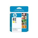 HP 82 Yellow Ink Cartridge ,Model CH568A ,Page Yield 470
