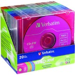 Verbatim DataLifePlus Colors 20 x CD-RW 700 MB (80min) 2X 4X Slim Jewel StoraMedia (226695)
