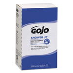 Gojo Shower Up Soap & Shampoo, Rose Colored, Pleasant Scent, 2000mL Refill, 4/Carton