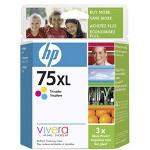 HP CB338WN#140 No. 75XL Color Print Cartridge, 520 Pages