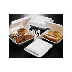 Dart Container 72HT1 White Hinged Lid Hot Dog Foam Container