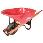 Union Tools 6-cu.ft. Steel Tray Wheelbarrow 99171 99184 9963
