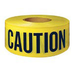 "Intertape Ut-600cc 3"" x 300' Cautiontape Black/yello"