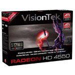 Visiontek Radeon HD 4550 - graphics adapter - Radeon HD 4550 - 512 MB