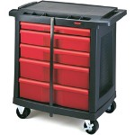 Rubbermaid 5 Drawer Mobile Work Center, Black