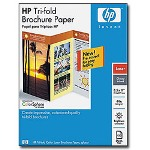 "HP Tri-fold Brochure Paper - Glossy Photo Paper - 5.5 Mil - 8.5"" x 11"" - 160 G/m2 - 150 Sheet(s)"