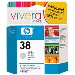 HP 38 Print Cartrid1 x Pigmented Light Gray