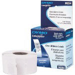 "Dymo Address - Permanent Adhesive Labels - Black On Clear - 1.125"" x 3.5"" - 130 Label(s)"