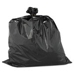 "Warp Brothers Black twist ties Trash Bags, 33 Gallon, 2.5 Mil, 33"" X 40"", Box of 60"