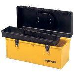 "Waterloo 22"" Flat Top Plastic Tool Box Black/yell"