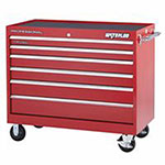 Waterloo Professional HD Series 46 X 24 6-Drawer Cabinet, Red