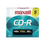 Maxell CD-R X 5 - 700 MB - Storage Media